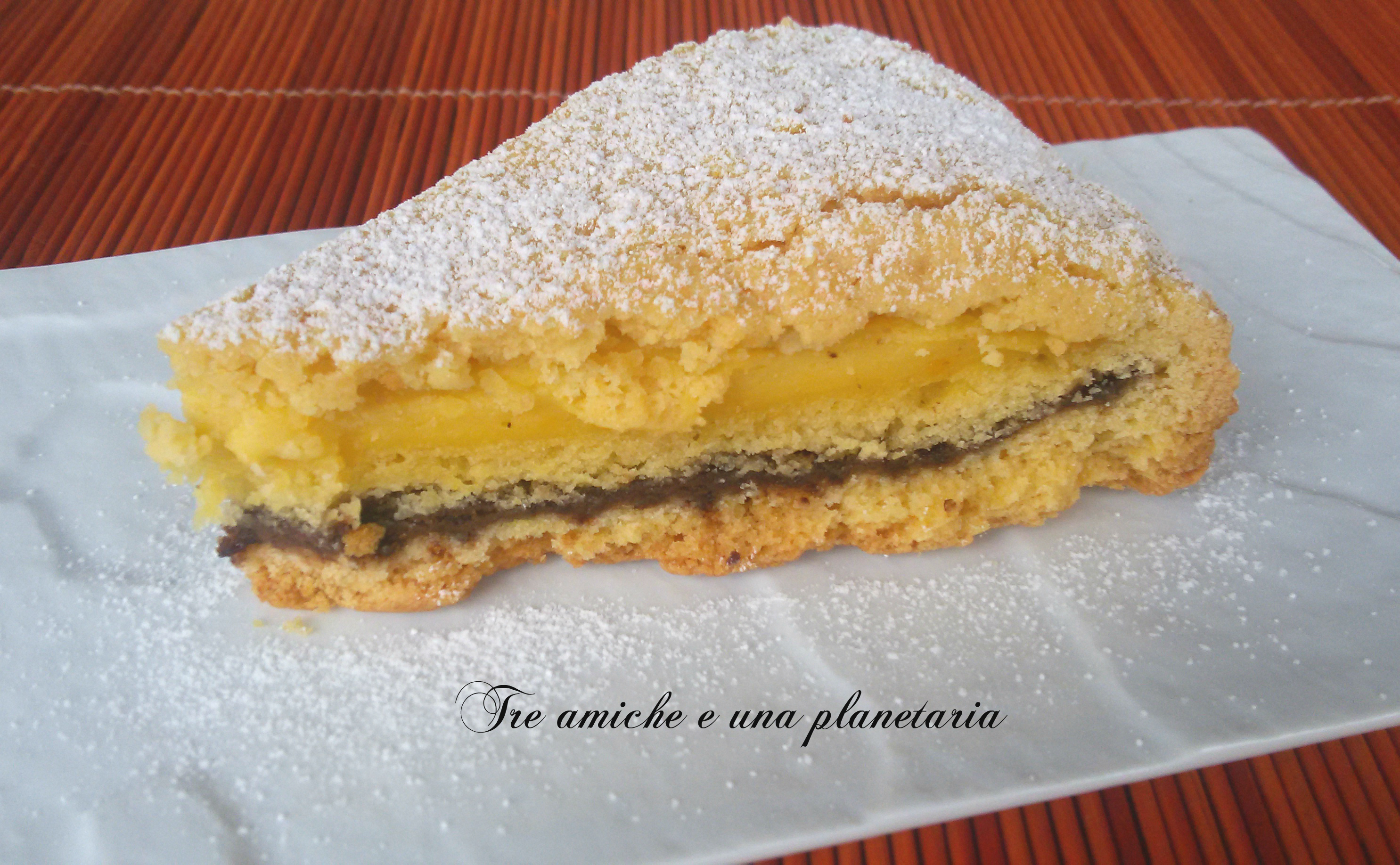 torta nutella e crema