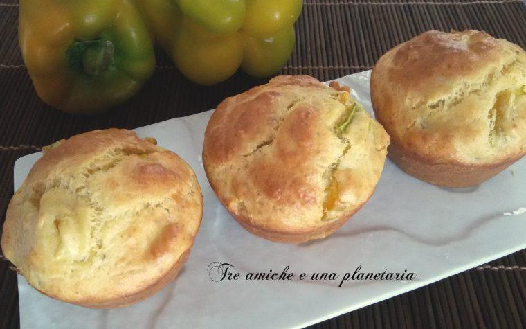 Muffin salati ai peperoni
