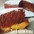 Hot milk sponge cake - Torta al latte caldo- al cioccolato e mele