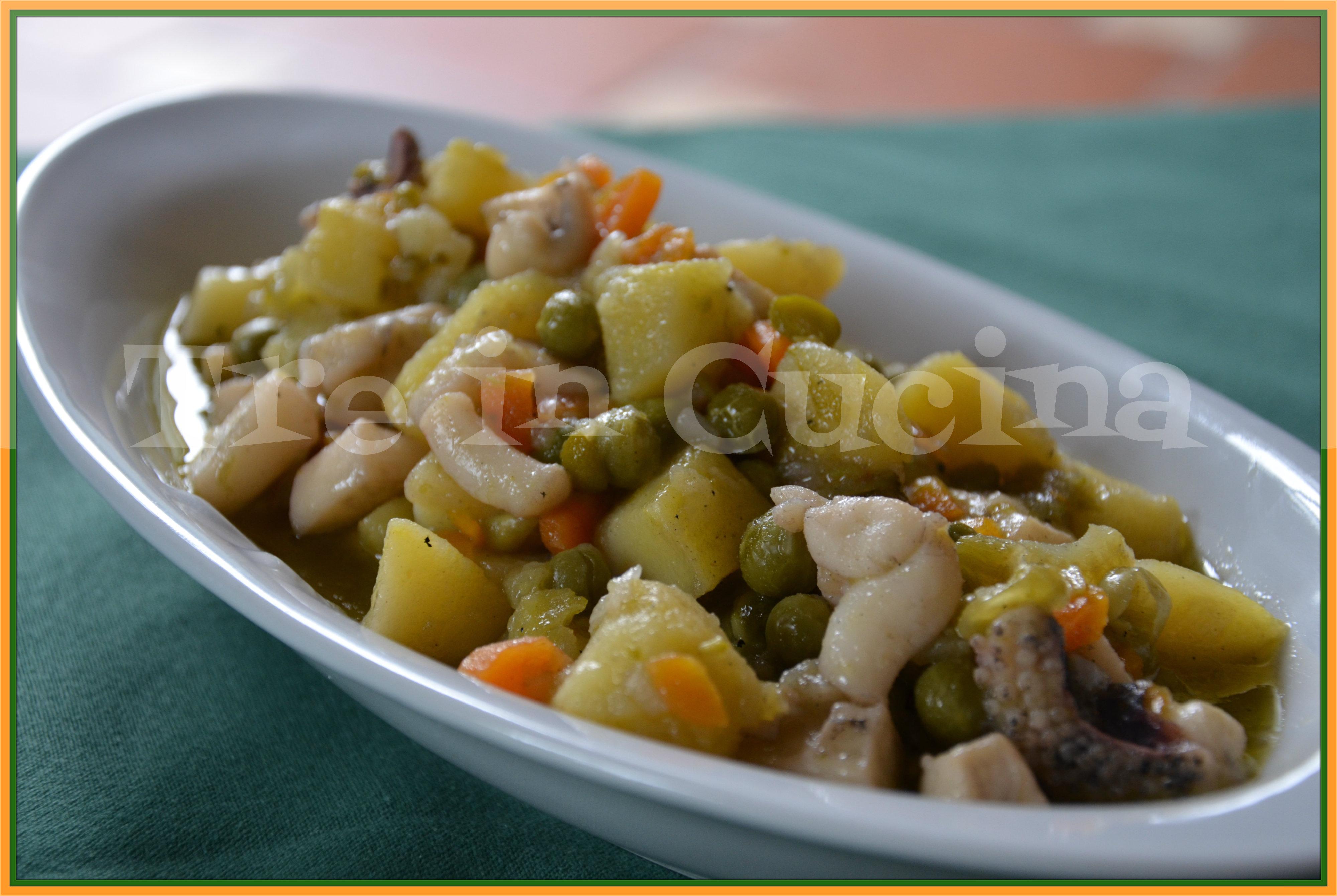 seppie patate e piselli (ricetta passo-passo) | treincucina - Come Cucinare Seppie E Piselli