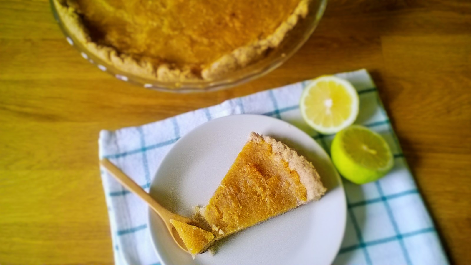Crostata vegana con marmellata di limoni