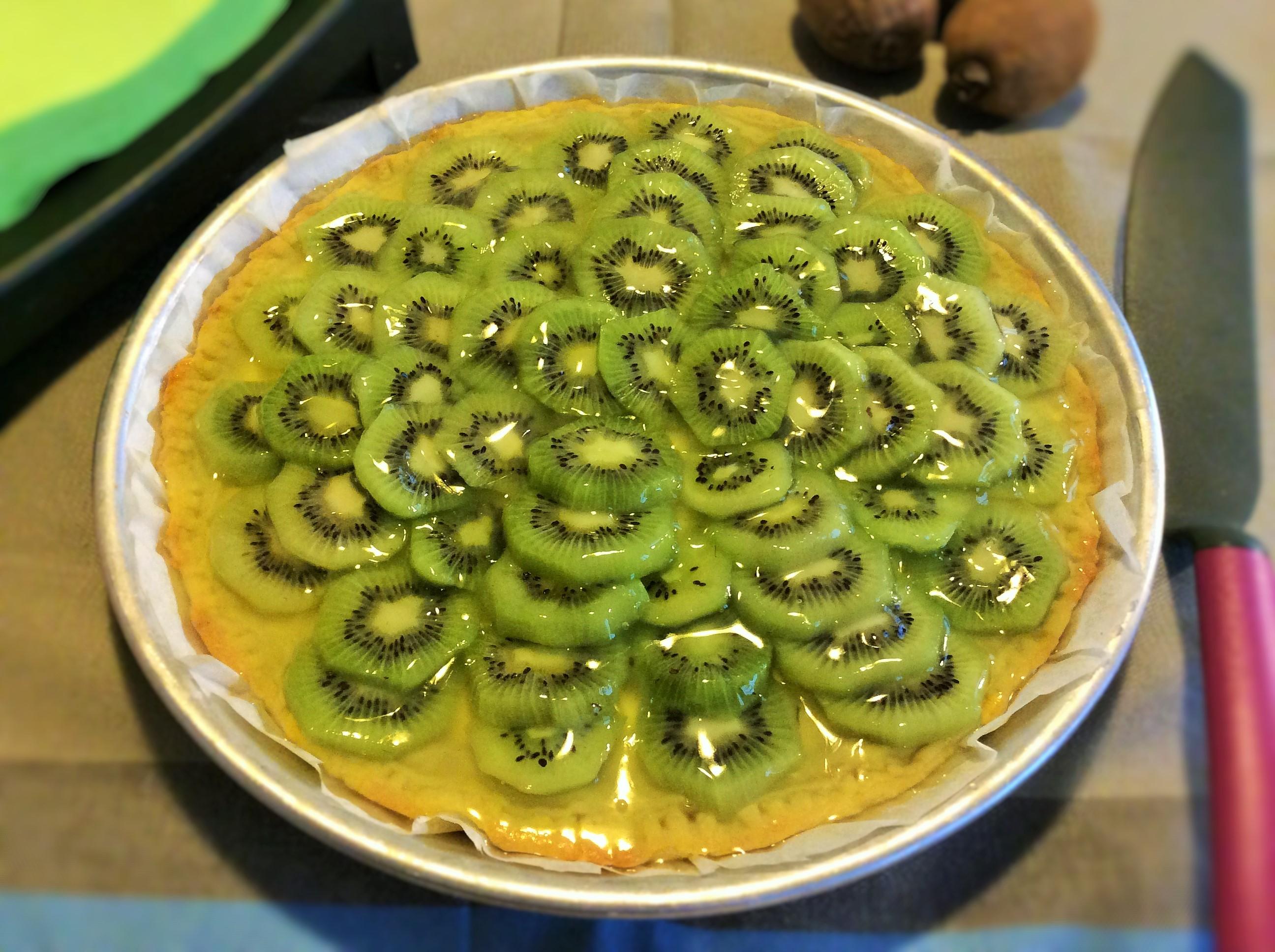 Crostata di kiwi con marzapane