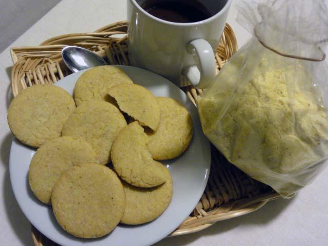 Biscotti con farina di mais e riso