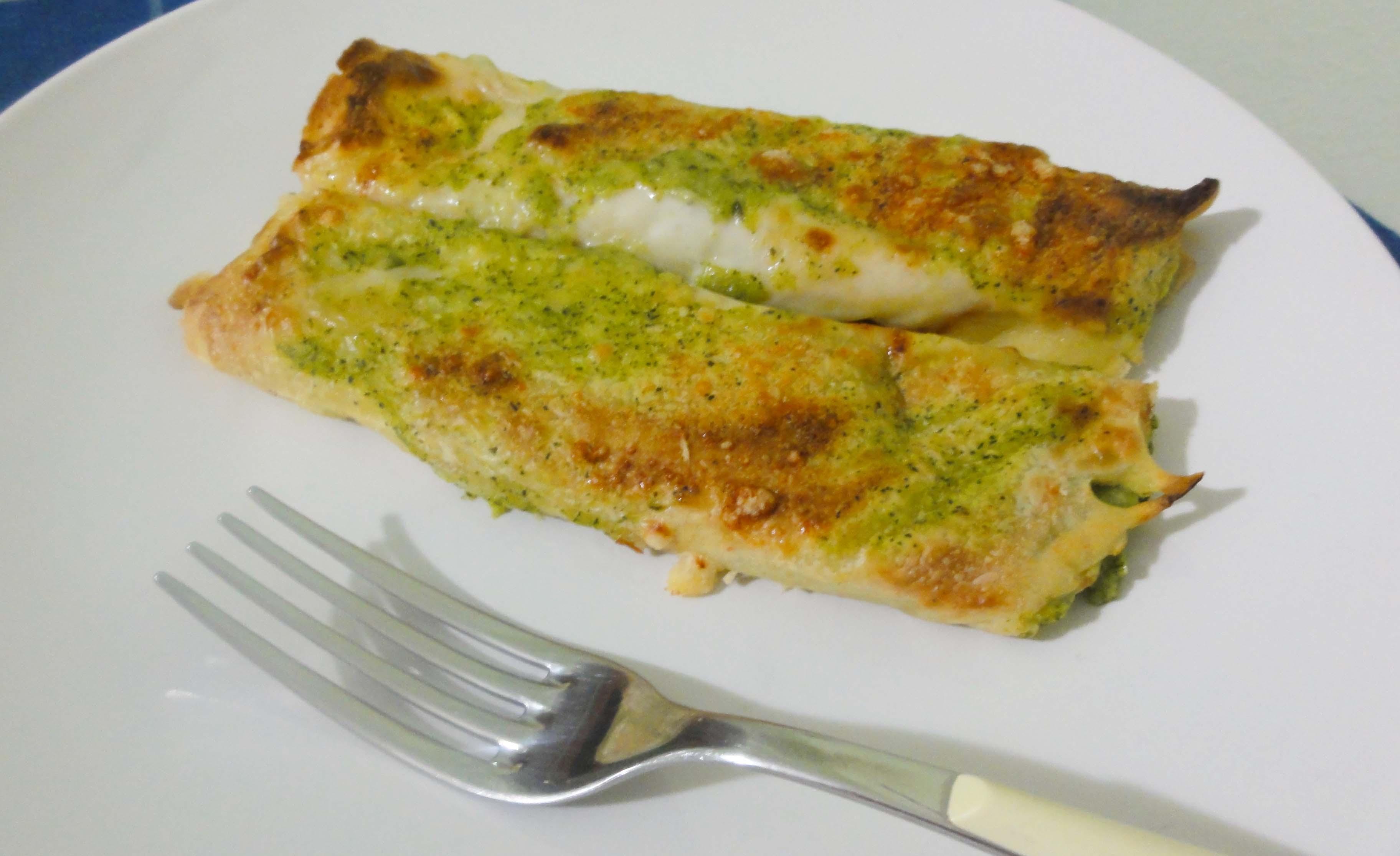Crespelle vegetariane: con crema di zucchine