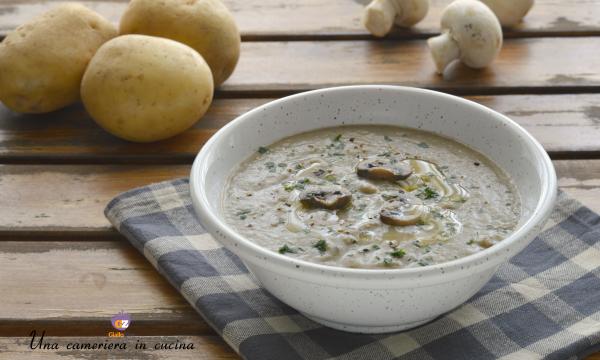 Vellutata di funghi e patate – ricetta light