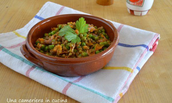 Piselli e lenticchie fantasia – ricetta saporita