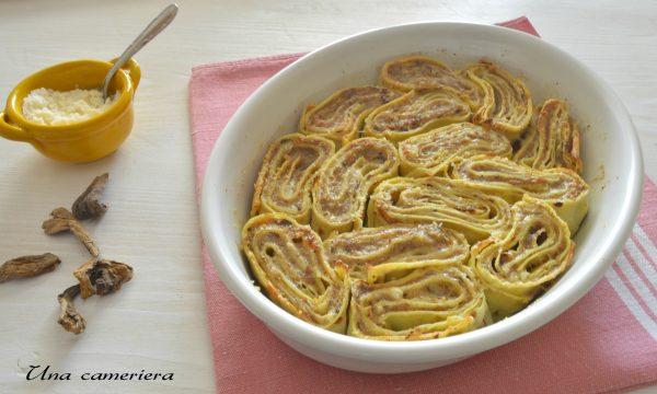 Girelle di crêpes al prosciutto funghi e formaggio