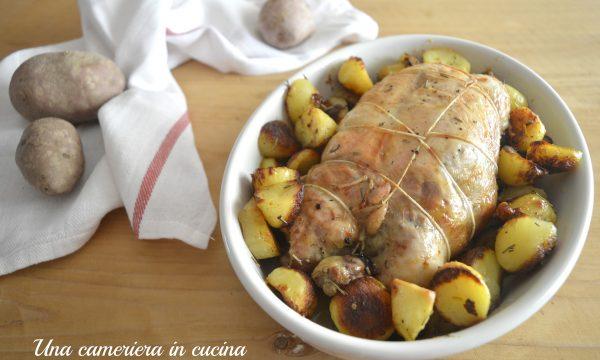 Pollo ripieno con pasta di salame e patate