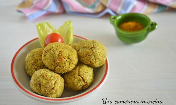 Polpette di tofu ai carciofi e curry