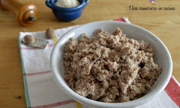 Ripieno di carne per tortellini e cappelletti