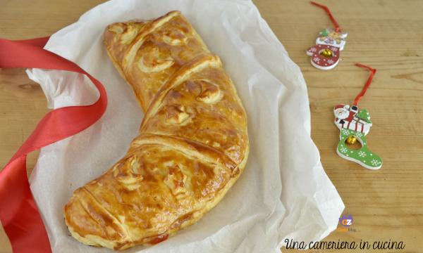 Calza della befana al prosciutto e formaggio