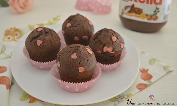 Muffin alla nutella di San Valentino