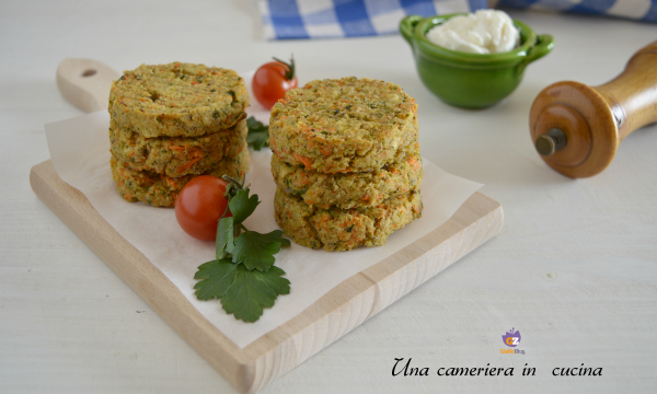 Mini burger di verdure e ricotta – ricetta light