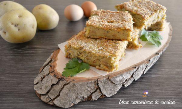 Sformato di patate gorgonzola e melanzane