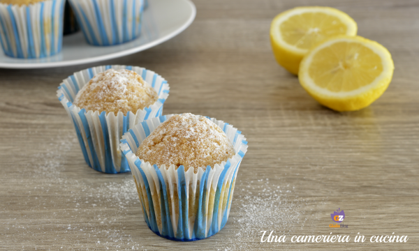 Muffin all'acqua e limone