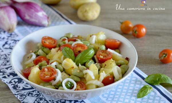 Insalata di patate fave e pomodorini