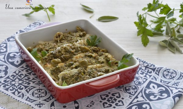 Filetti di cernia con olive capperi e salvia