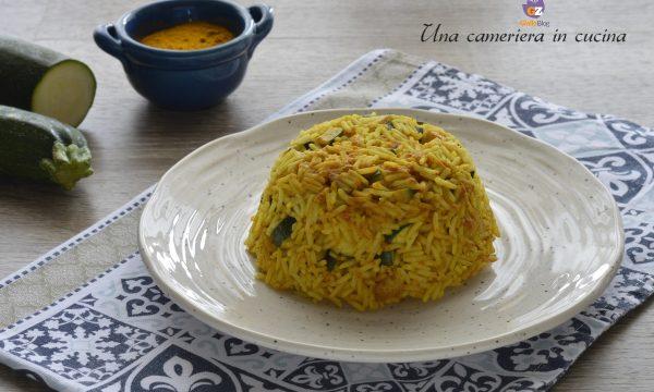 Riso con zucchine e curcuma – ricetta light
