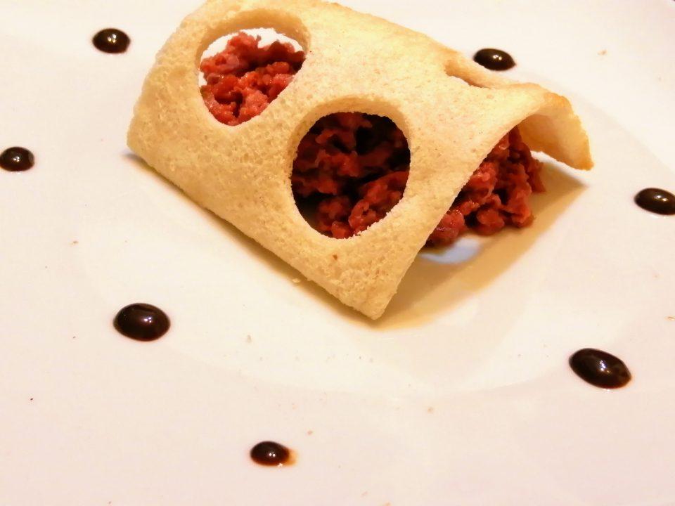 tartare di manzo e aceto balsamico