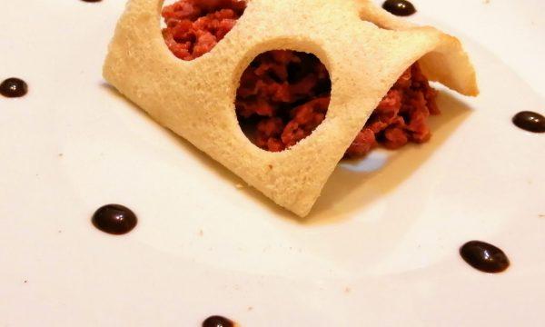 Tartare di manzo all'aceto balsamico