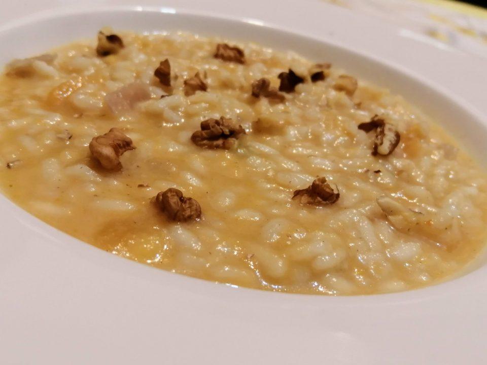 risotto cachi e gorgonzola