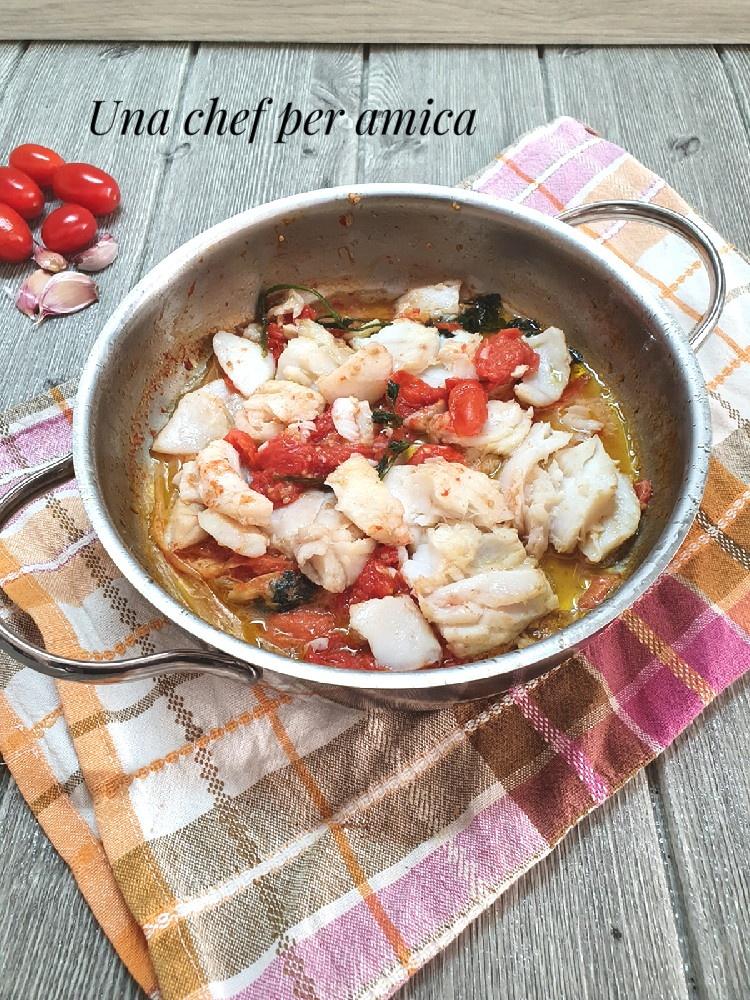 Baccalà in umido con pomodorini