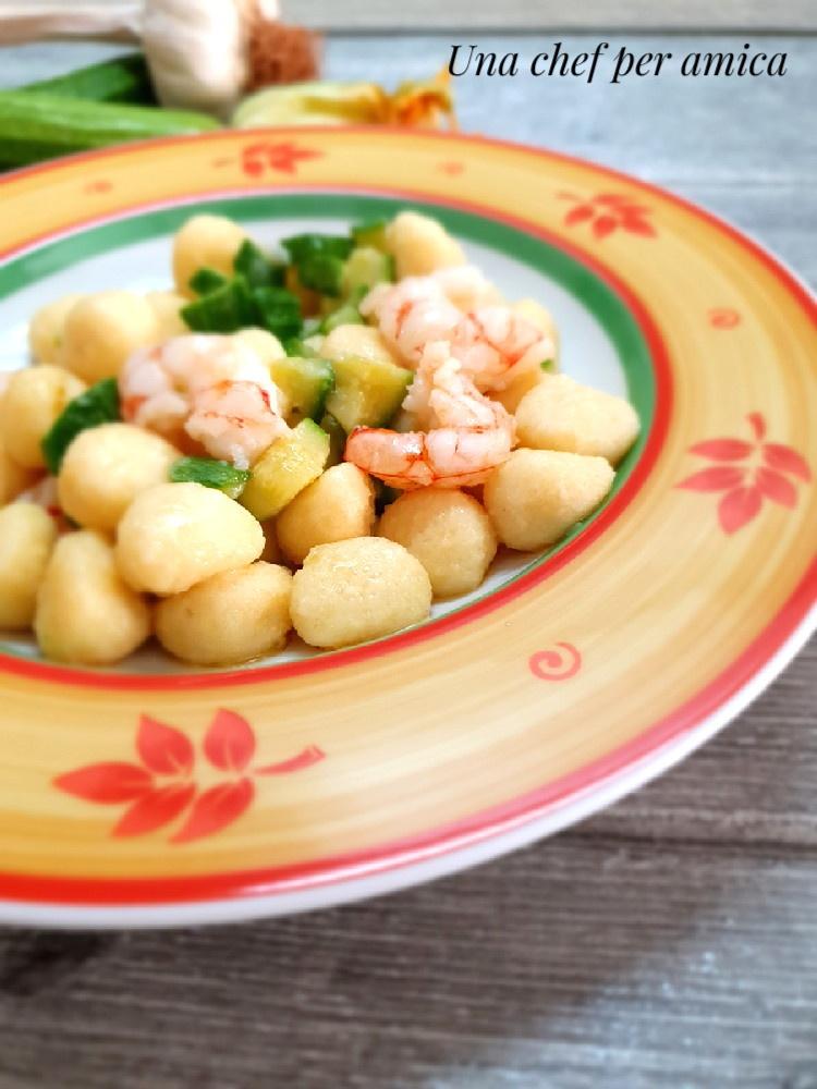 gnocchetti zucchine e gamberetti 1