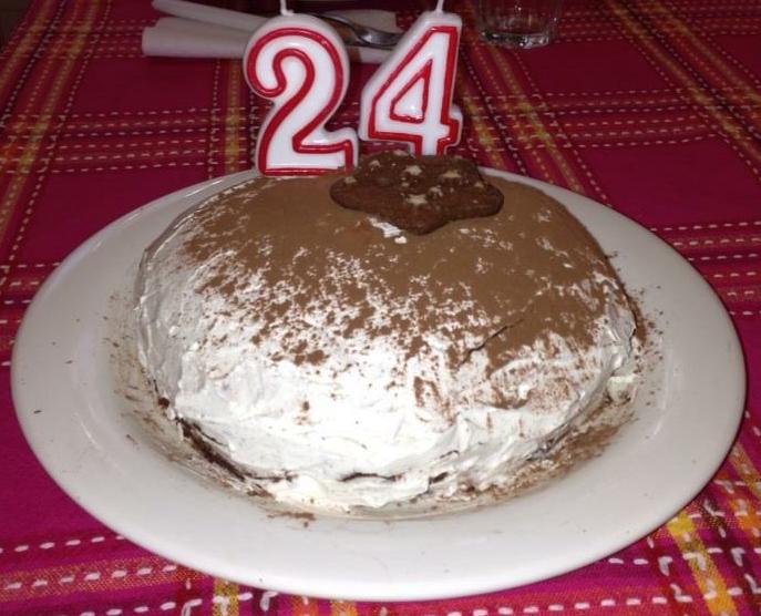 La torta dei miei 24 anni