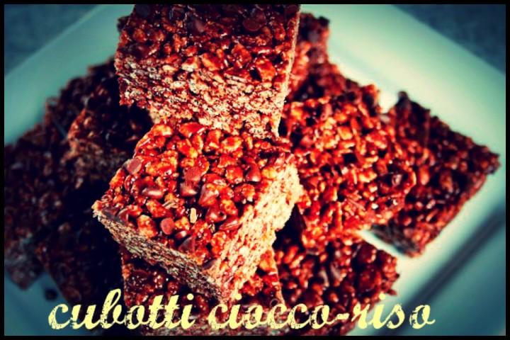 Cubotti di ciocco-riso