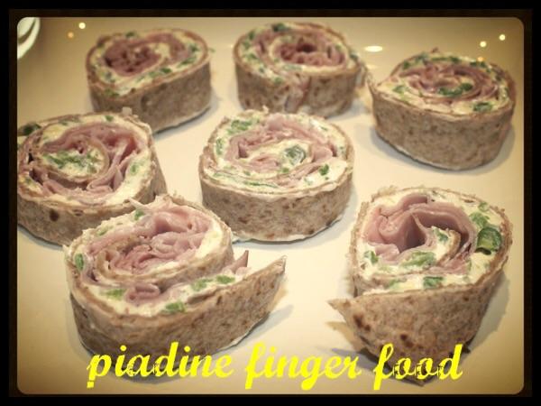 Piadine finger food