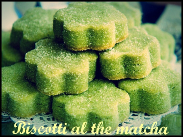 Biscotti al the matcha
