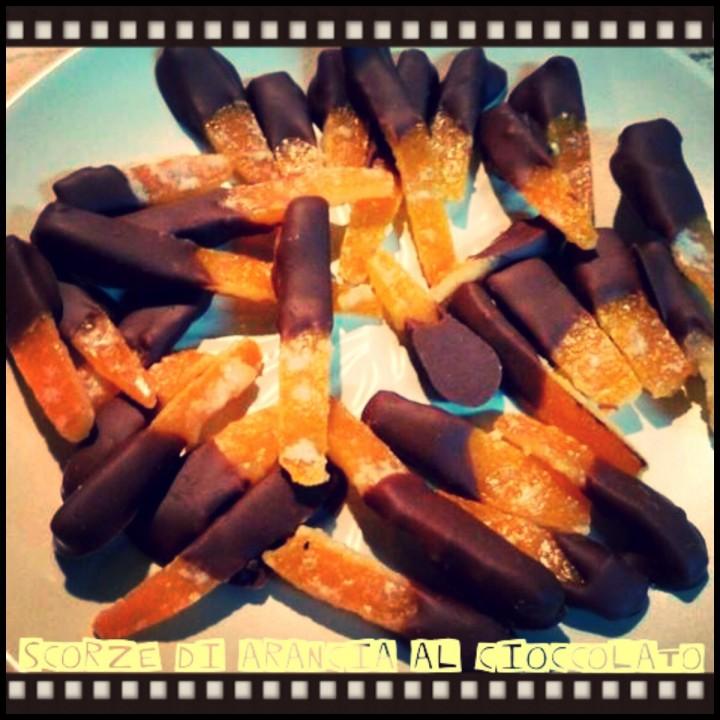 Scorze di arancia al cioccolato