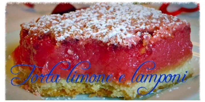 Torta limone e lamponi
