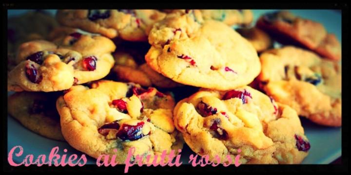 Cookies ai frutti rossi