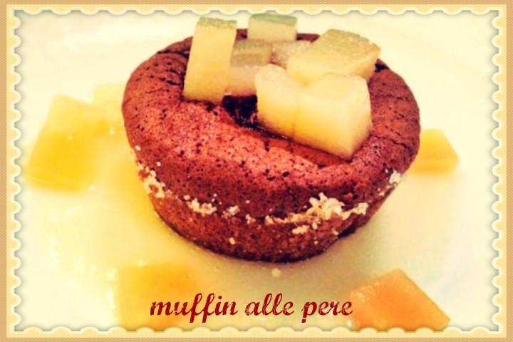 Muffin alla crema di pere