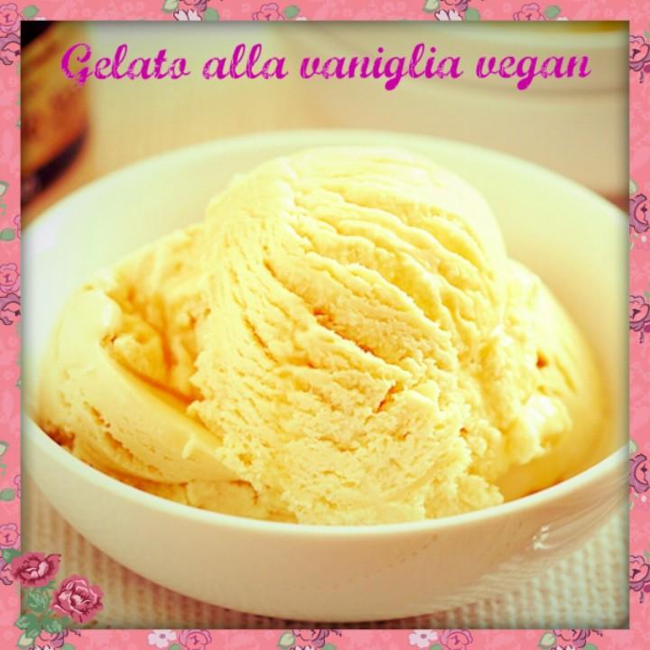 Gelato vegan alla vaniglia vegan