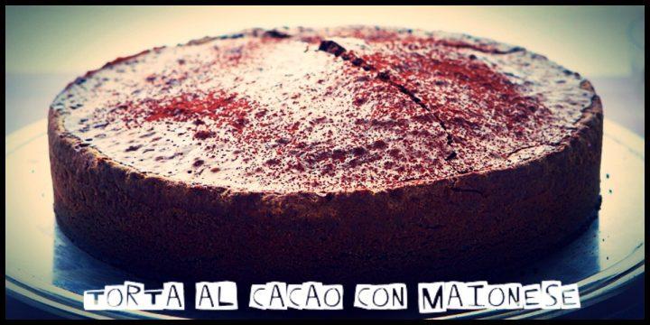 Torta al cacao con maionese