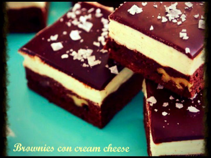 Brownies al cream cheese