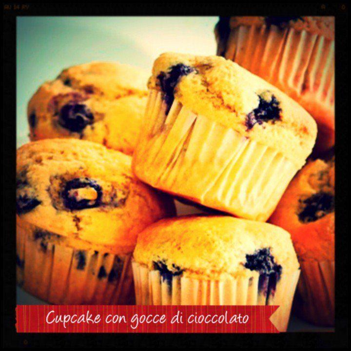 Cupcake con gocce di cioccolato