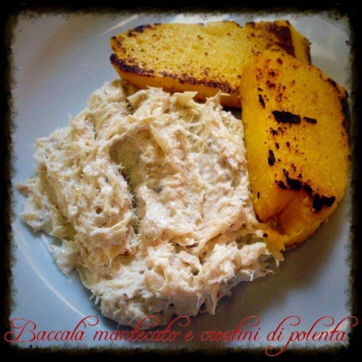 Baccalà mantecato con crostini di polenta