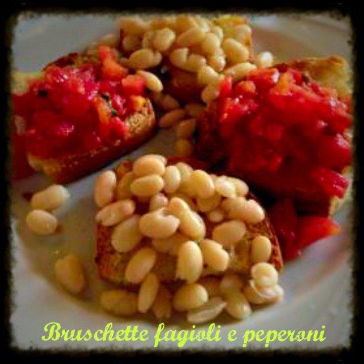 Bruschette fagioli e peperoni