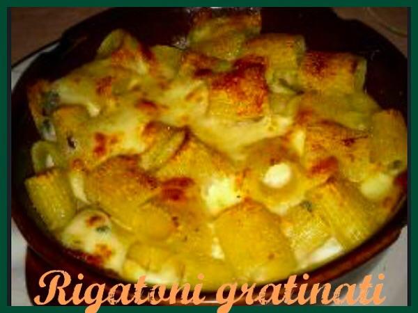Rigatoni gratinati