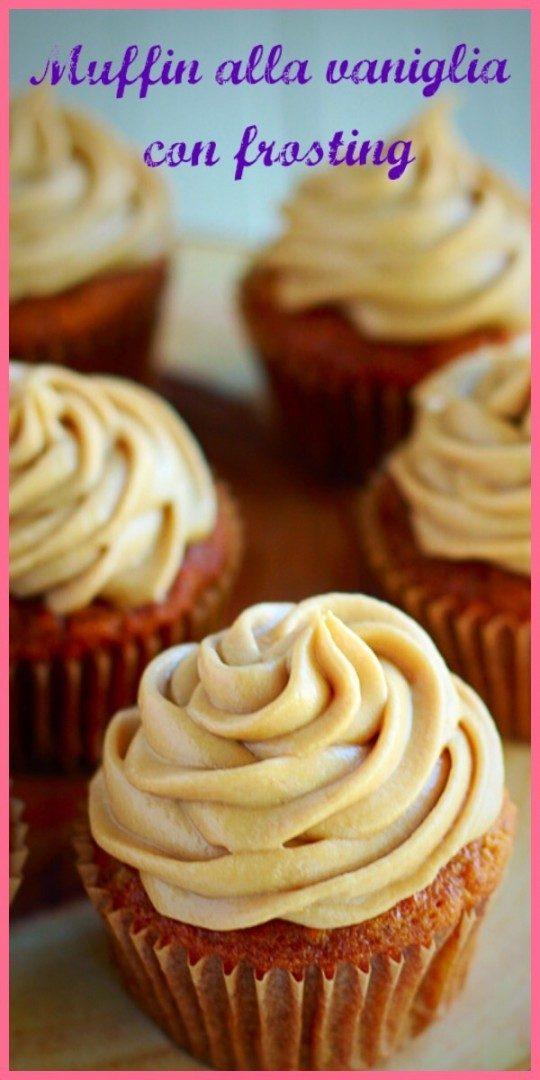 Muffin alla vaniglia con frosting