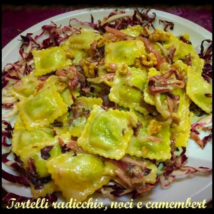 Tortelli radicchio, noci e camembert