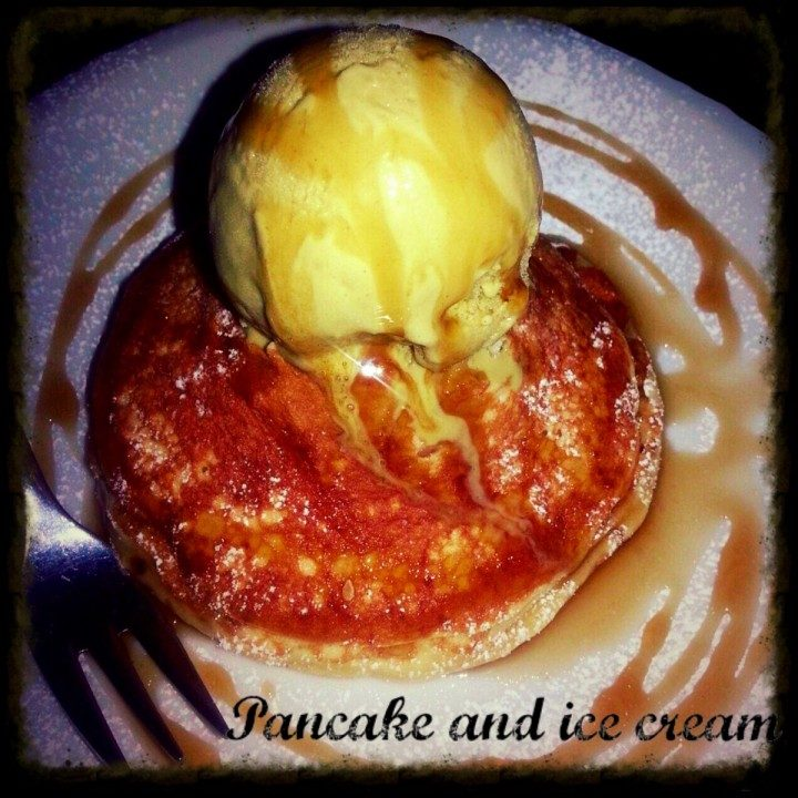 Pancake and ice cream