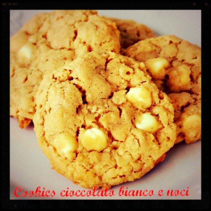 Cookies cioccolato bianco e noci