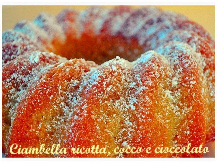 Ciambella ricotta, cocco e cioccolato bianco
