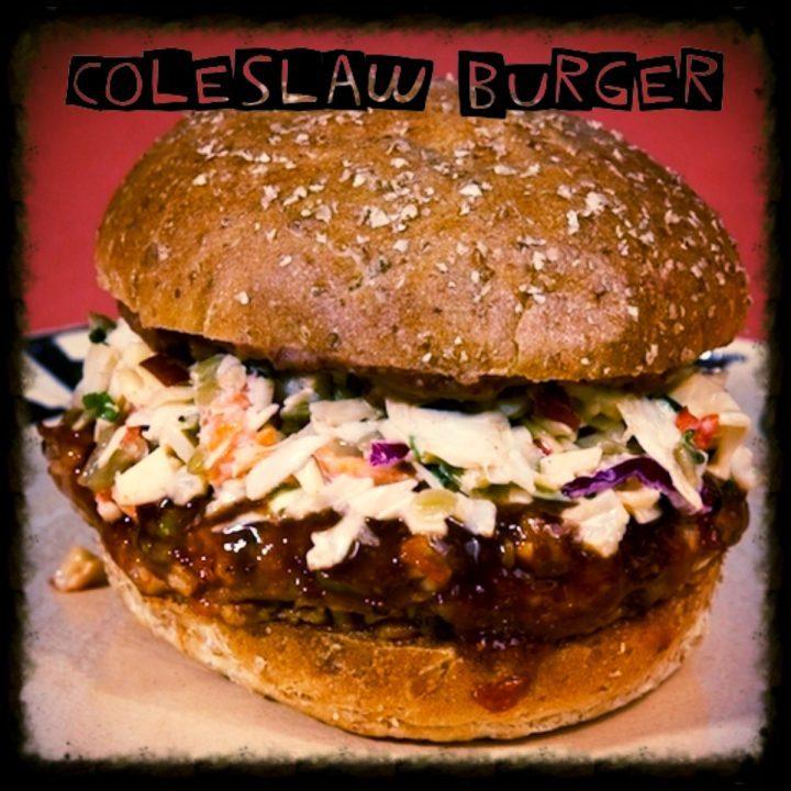 Coleslaw burger