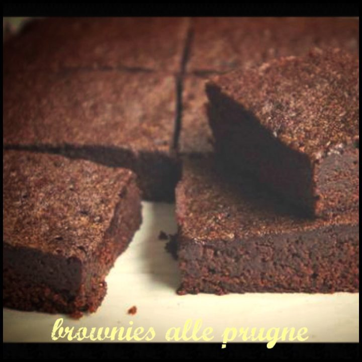 Brownies alle prugne