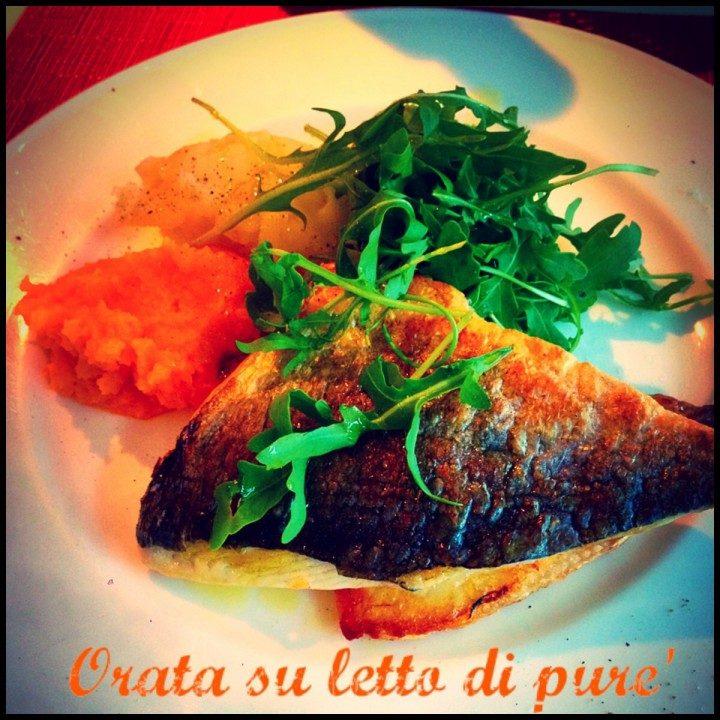 Orata su letto di pur una cucina da single - Filetto di orata al forno su letto di patate ...